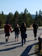 Quick walk to Old Faithful and Geysers