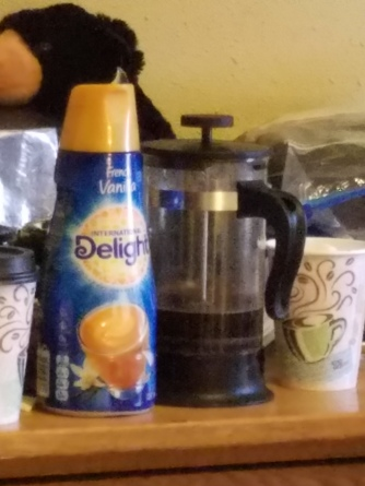 Two must haves for us. Coffee & Creamer.