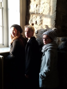 The girls in the Tower of London.