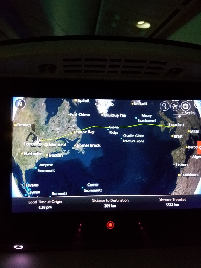 Our flight was a lesson on time zones, earth rotation and plane speeds, geography...